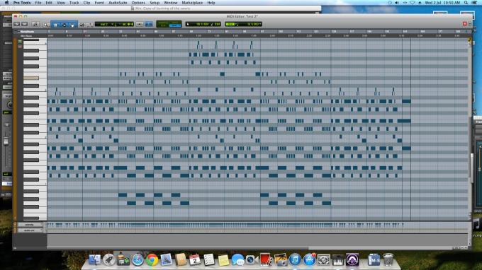 Short-score of the music