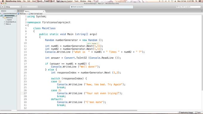 C# Script in MonoDevelop