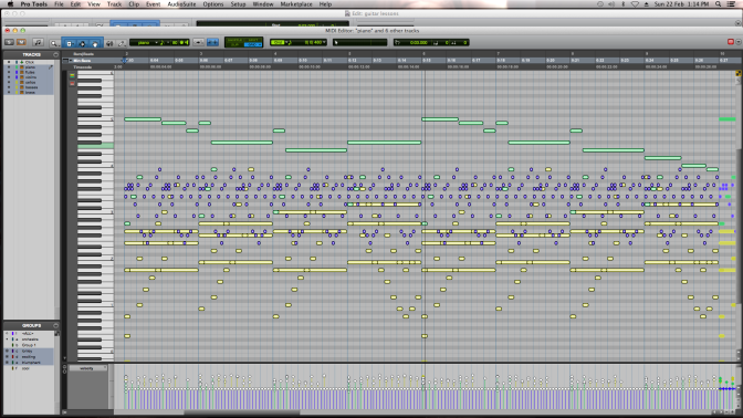 MIDI sequence of emotional states