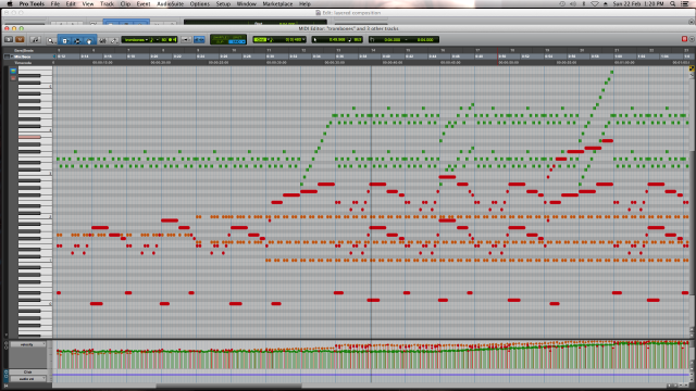 MIDI sequence of the Extension to Exciting