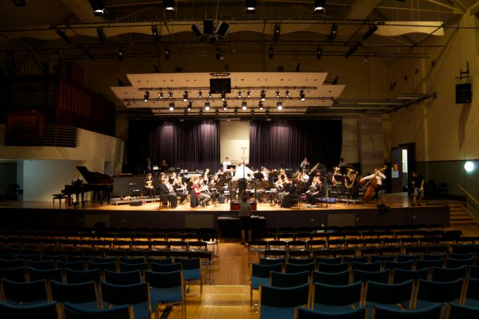 The Orchestra Performs A Sound-Check