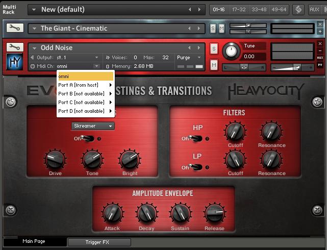 Set the MIDI channels the same